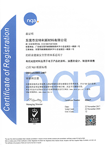 OHSAS18001证书